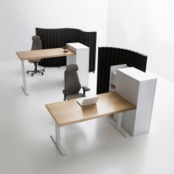 IN PERFECT HARMONY Series[f] city comprises desks, meeting tables and bench solutions. Its top quality and minimal design can create harmony and an overall sense of unity in different types of environments. All desks are equipped with practical lightweight top...